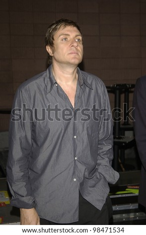 Singer SIMON LE BON of pop group DURAN DURAN at The Roxy in Los Angeles where they were performing in their first US concert in 18 years.  July 15, 2003  Paul Smith / Featureflash