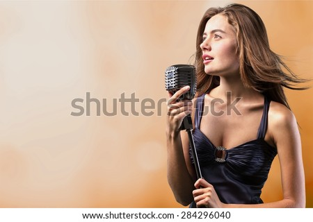 Singer, stage, talent. - stock photo