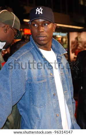 Singer TYRESE at the world premiere, in Hollywood, of Get Rich or Die Tryin'. November 2, 2005  Los Angeles, CA.  2005 Paul Smith / Featureflash