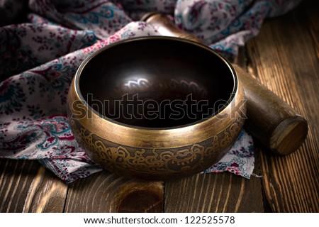 Singing bowl - stock photo