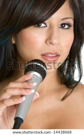 Singing Woman - stock photo