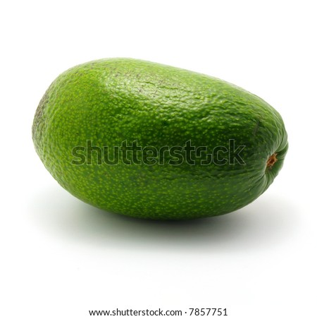 single avocado isolated on white background