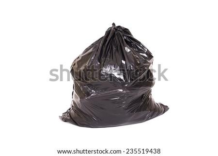 Single bag of trash - stock photo