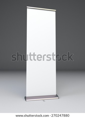 single banner or roll-up - stock photo