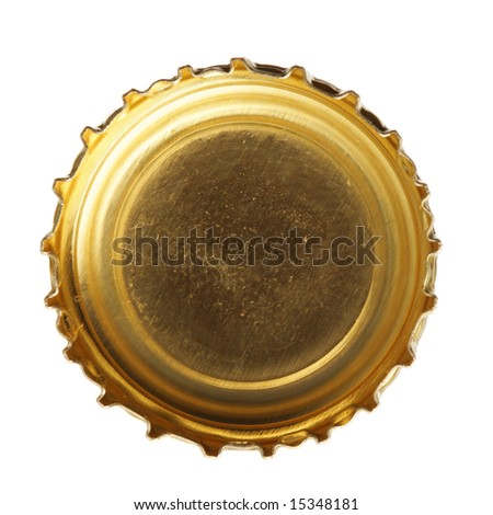 Single beer cork isolated over white background