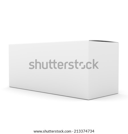 single blank horizontal closed box - stock photo