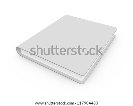 Single book with blank cover template, isolated on white background.