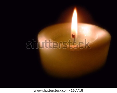 Single Candle - stock photo