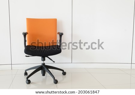 Single chair in the office