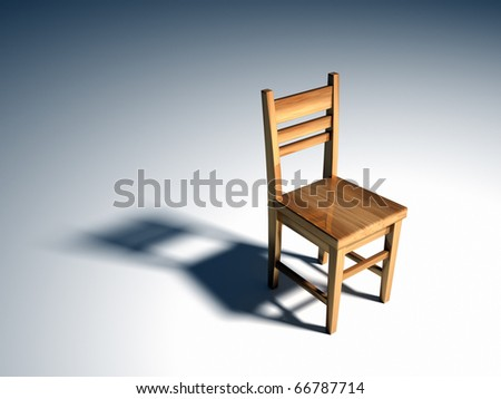 Single chair - this is a 3d render illustration