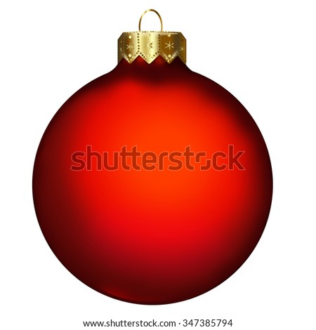 Single Christmas Bauble - stock photo