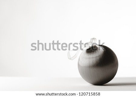 single Christmas bauble shot in the studio on a white background
