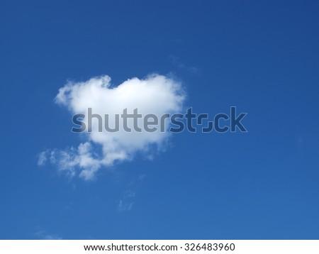 Single Cloud - stock photo