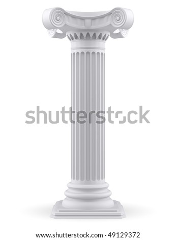 Single column (3d render)