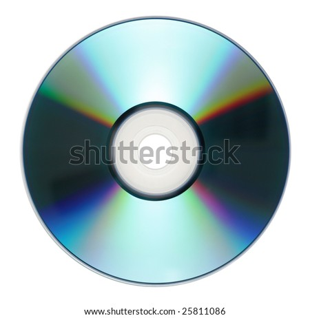 Single disc cd dvd isolated on white background