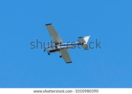 Single Engined Light Aircraft Reims Cessna Stock Photo Image