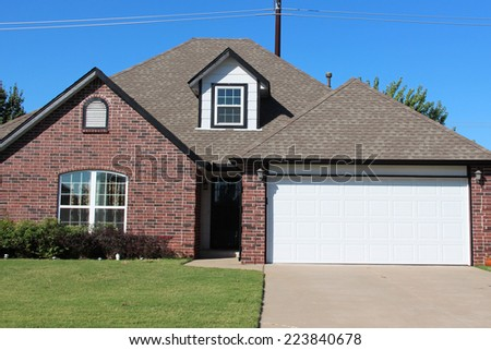 Single family house in America - stock photo