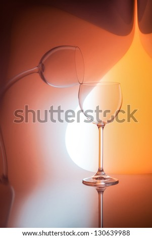 single glass of red wine