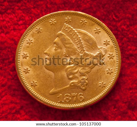 Single Gold Coin - stock photo