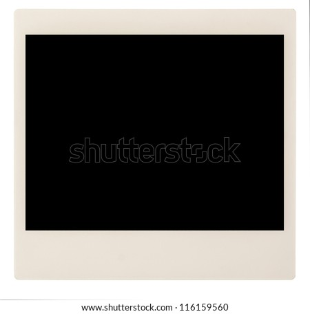 Single instant blank photo