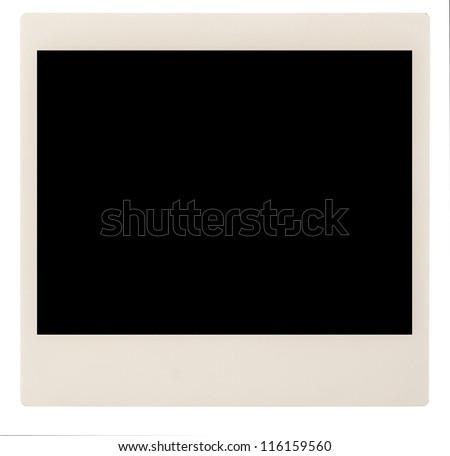 Single instant blank photo - stock photo