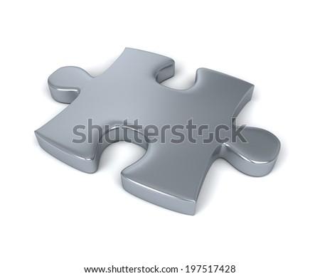 Single jigsaw piece - stock photo