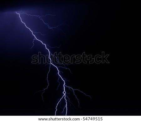 single lightning bolt - stock photo
