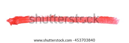 Single line marker stroke of a wax crayon as a design underline element, isolated over the white background - stock photo