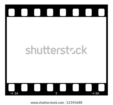 Single 35mm Film Negative Frame, Space For Own Picture Or Text - stock photo