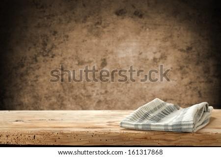 single napkin on desk  - stock photo