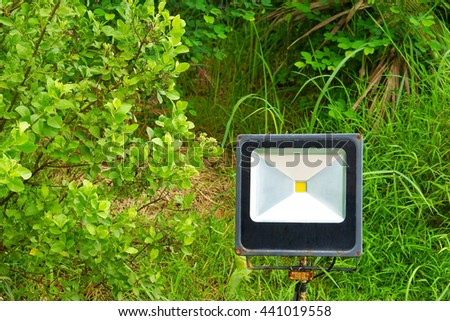Single Outdoor 50W Waterproof RGB LED Floodlight Or Lawn Light, Or landscape Light - stock photo