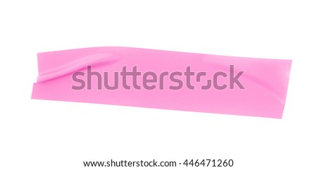 Single piece of insulating tape isolated over the white background