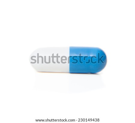 Single pill. All on white background.