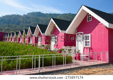 Pink House Stock Images Royalty Free Images Vectors Shutterstock