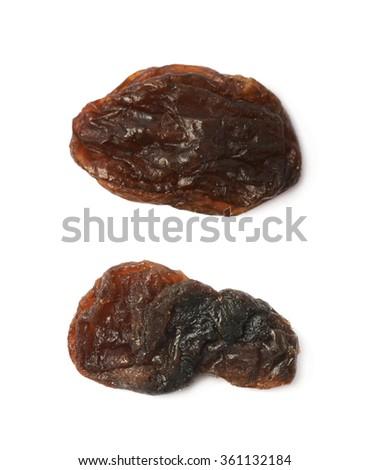 Single raisin isolated - stock photo