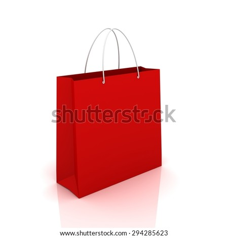 single red shopping bag
