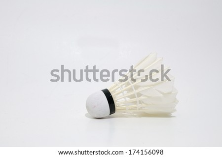 Single shuttle-cock on white background.