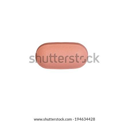 Single simvastatin on close up shot - stock photo