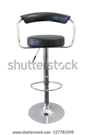 Single stool isolated on plain background - stock photo