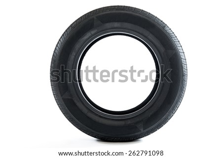 single summer new car tire ready for season - stock photo