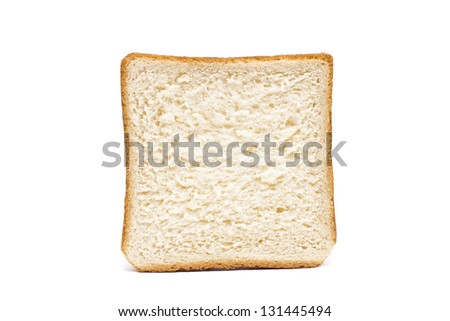 single toast against white background