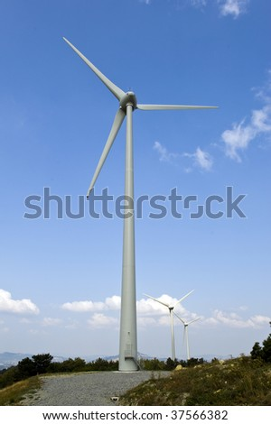 single turbine in the sky
