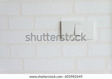Single White Light Switch On Wallpaper