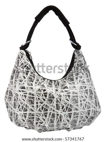 single women bag isolated on white background - stock photo