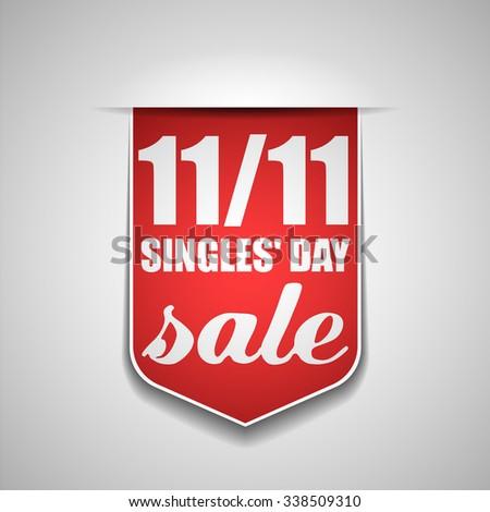 Singles' Day sale - stock photo