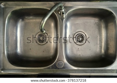 sink at top view - stock photo