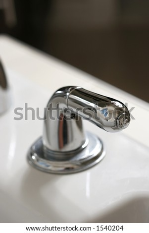 sink handle - stock photo