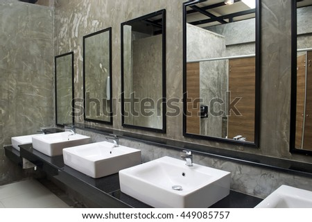 sink with mirror in public restroom. Public Restroom Stock Images  Royalty Free Images   Vectors