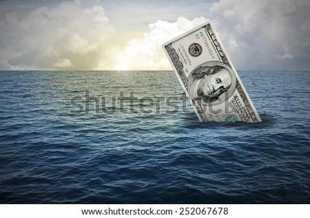 sinking - stock photo