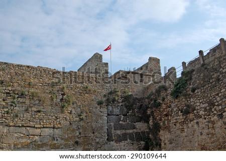 Sinop Castle.(Historical Sinop Prison). Sinop,TURKEY - stock photo